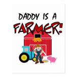 Daddy is a Farmer Tshirts and Gifts Postcard