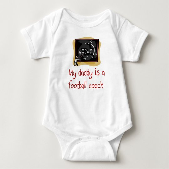 Daddy is a Football Coach baby shirt