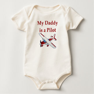Daddy is a Pilot baby t-shirt