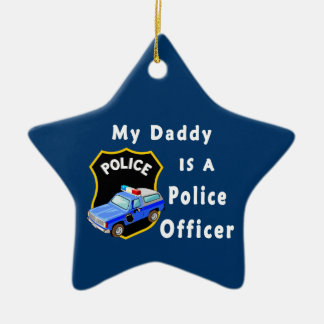 Daddy Is A Police Officer Christmas Tree Ornaments