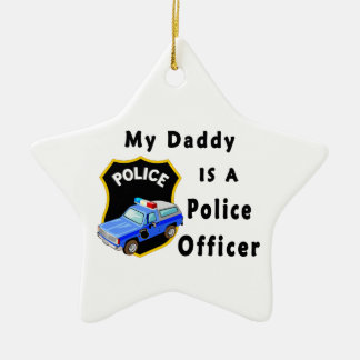 Daddy Is A Police Officer Christmas Ornaments