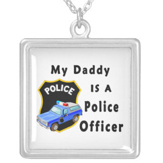 Daddy Is A Police Officer Silver Plated Necklace