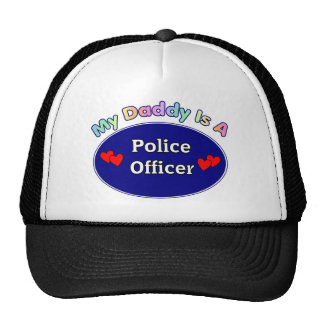 Daddy Is A Police Officer Trucker Hat