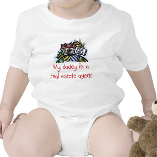 Daddy is a Real Estate Agent baby shirt