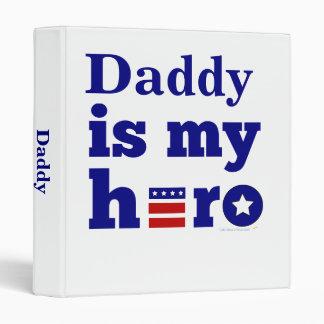 Daddy is My Hero Patriotic Red White and Blue Vinyl Binder