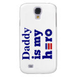 Daddy is My Hero Patriotic Red White and Blue Samsung Galaxy S4 Cover
