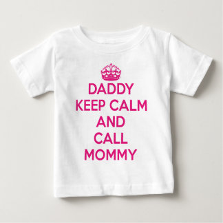 Daddy Keep Calm T-Shirt (Pink)
