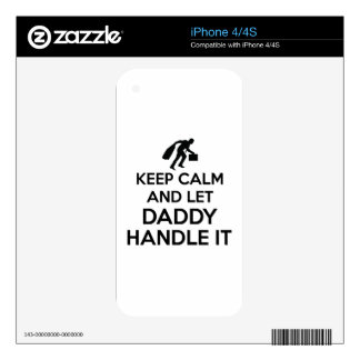 Daddy Keep calm tshirts Decal For The iPhone 4S