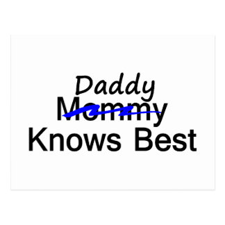 Daddy Knows Best Postcard