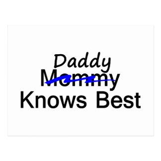 Daddy Knows Best Postcard
