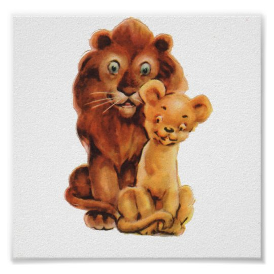 Daddy Lion and Son Poster