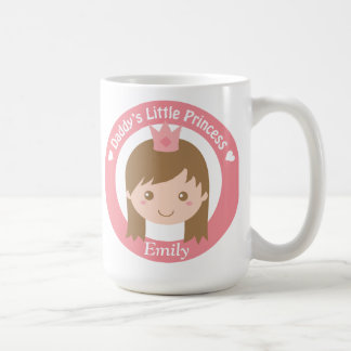 Daddy Little Princess, Cute Princess with Tiara Coffee Mug