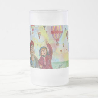 Daddy Look Balloons Frosted Mug