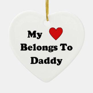 Daddy Love Ceramic Ornament