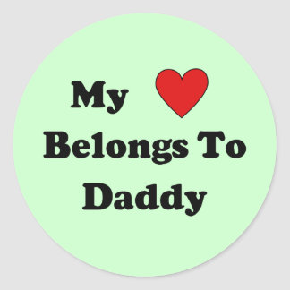 Daddy Love Classic Round Sticker