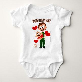 Daddy Loves Baby - Baby Bodies 01 - White Baby Bodysuit