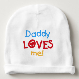 Daddy Loves Me Baby Beanie