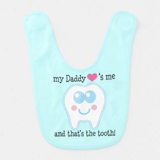 Daddy Loves Me Baby Bib