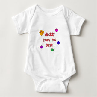 Daddy Loves Me Best! Baby Bodysuit