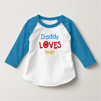 Daddy Loves Me Toddler Raglan T-shirt