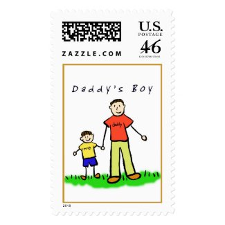 Daddy & Me Stamp (Brunette with Title) stamp
