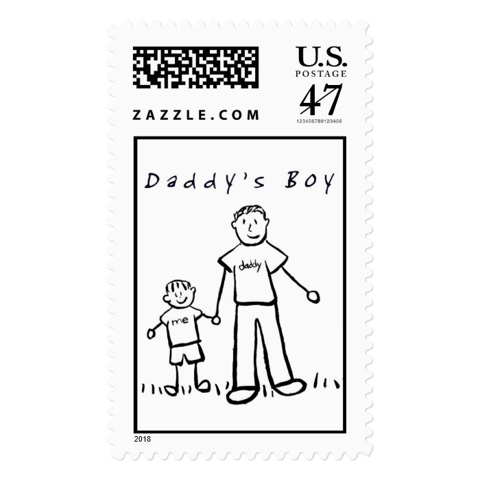 Daddy & Me Stamp (Drawing)