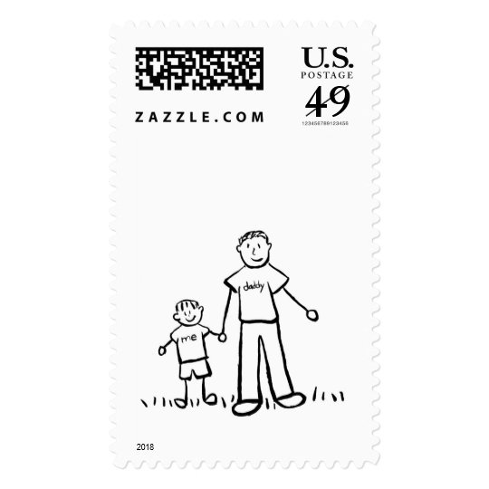 Daddy & Me Stamp (Drawing & No Title)