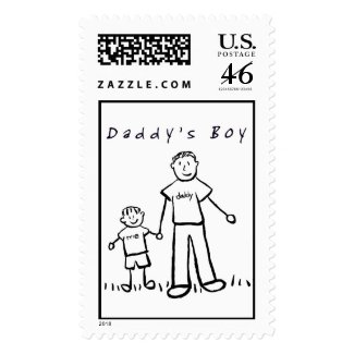 Daddy & Me Stamp (Drawing) stamp