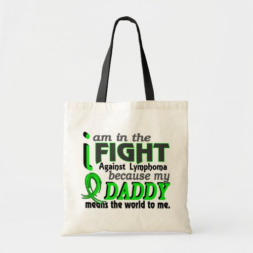 Daddy Means The World To Me Lymphoma Budget Tote Bag