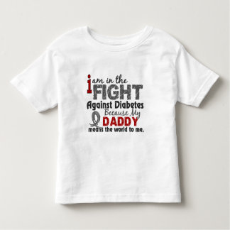 Daddy Means World To Me Diabetes Toddler T-shirt