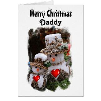 Daddy / Merry Christmas - Snowmen Card