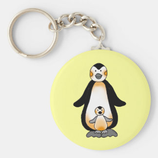 Daddy/Mommy & Baby penguins Keychain