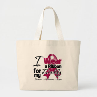 Daddy - Multiple Myeloma Ribbon Tote Bags
