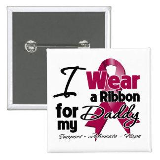 Daddy - Multiple Myeloma Ribbon Pinback Button