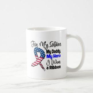 Daddy - My Soldier, My Hero Patriotic Ribbon Coffee Mug