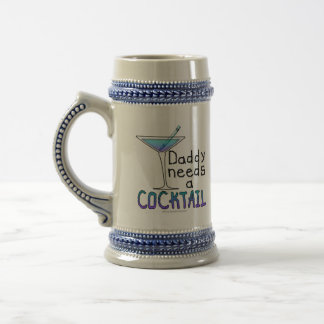 DADDY Needs a Cocktail Beer Stein