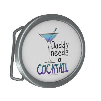 DADDY Needs a Cocktail Oval Belt Buckle