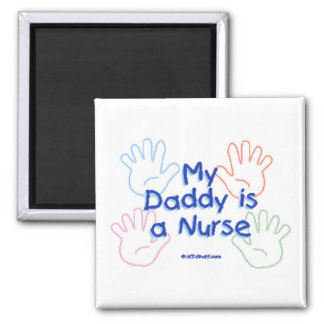 Daddy Nurse Hands Fridge Magnets