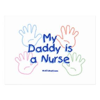 Daddy Nurse Hands Postcard