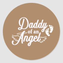 Daddy of an Angel Miscarriage Stickers