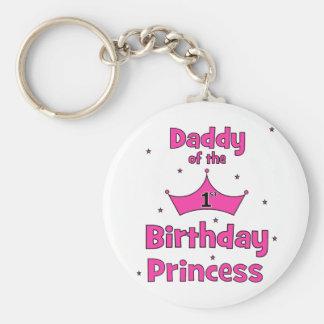 Daddy of the 1st Birthday Princess! Basic Round Button Keychain