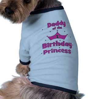 Daddy of the 1st Birthday Princess! Pet Tshirt