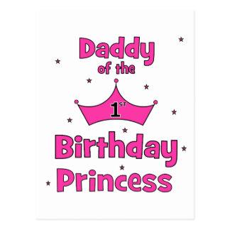 Daddy of the 1st Birthday Princess! Postcard