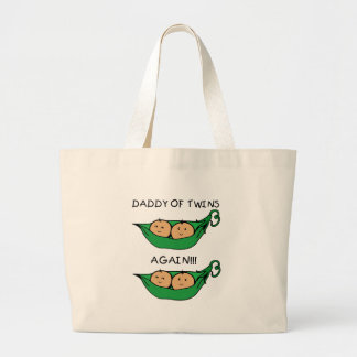 Daddy of Twin Again Pod Large Tote Bag