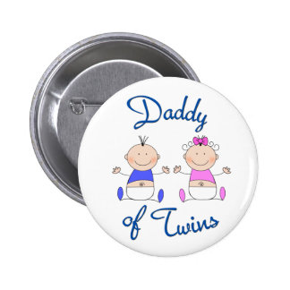 Daddy of Twins 2 Inch Round Button