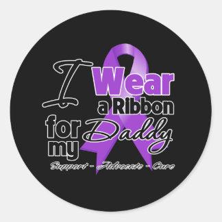 Daddy - Pancreatic Cancer Ribbon Classic Round Sticker