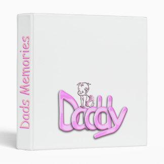 Daddy Pink Baby 3 Ring Binder