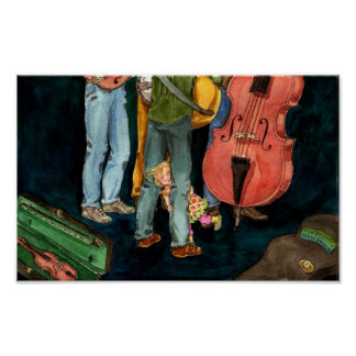 daddy plays bluegrass poster
