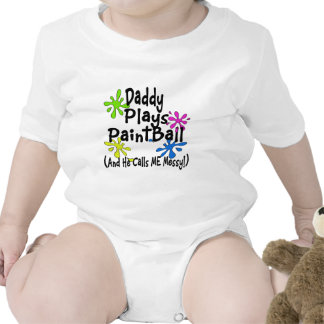 Daddy Plays Paintball Tshirts
