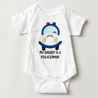 Daddy Policeman unisex baby bodysuit